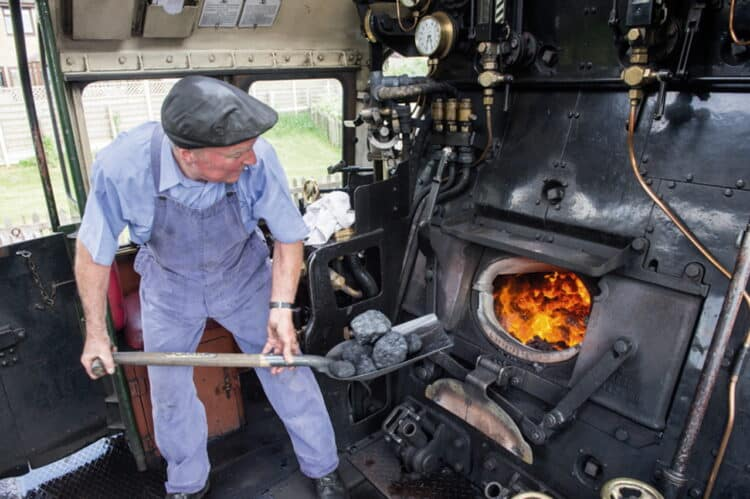 Steam locomotive fireman