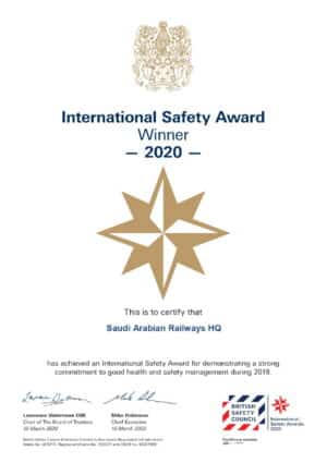 Safety Award Certificate