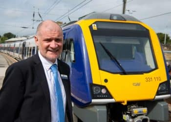 Steve Hopkinson welcomes new trains to Bradford, Skipton and Ilkley 331110