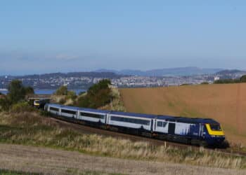ScotRail HST near the Tay Bridge