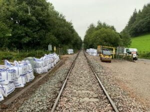 The Heart of Wales line is being recovered after storm damage in August