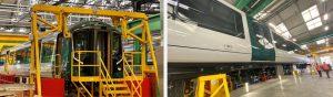New trains for London Northwestern Railway undergoing construction