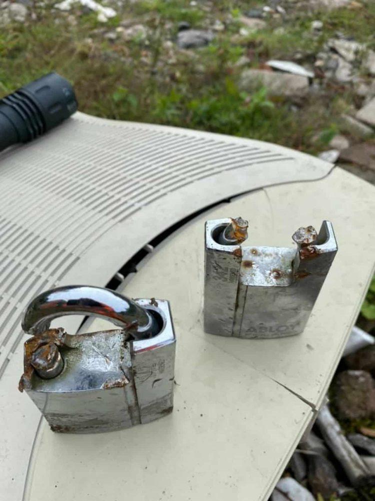 Locks broken at Froghall