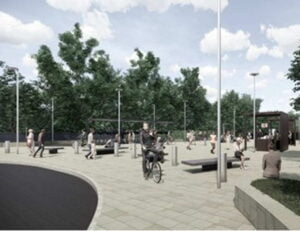 Moseley station forecourt
