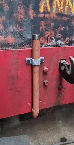 Vacuum brake pipework for Sentinel Ann