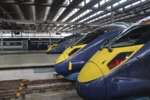 London St Pancras with Javelins and Eurostar