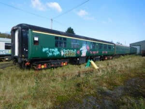 Graffiti attack at the Dartmoor Railway Association