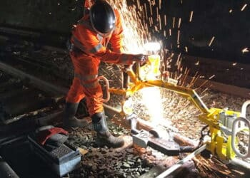 Anglia track renewals on the East Suffolk Line