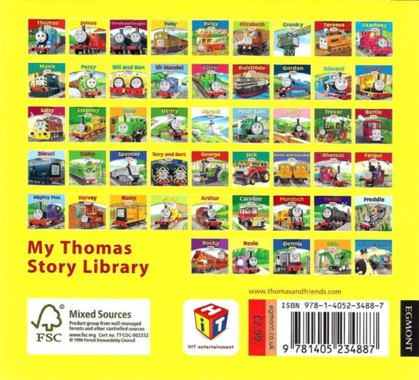 Thomas & Friends Book 41 Arthur Back Cover