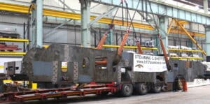 61673's Frames being lifted from lorry