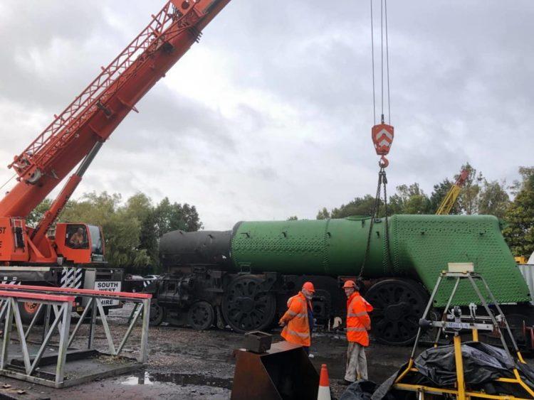 Boiler lift for 35011 General Steam Navigation
