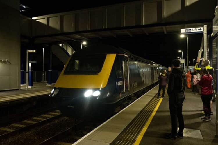 Kintore railway station reopening