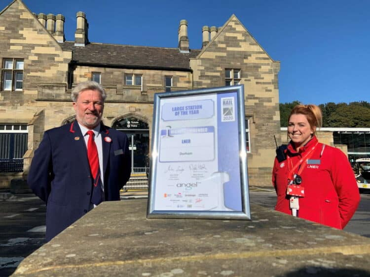 LNER Highly commended award for Durham Railway Station