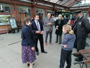 Nigel Huddleston meeting SVR volunteeers