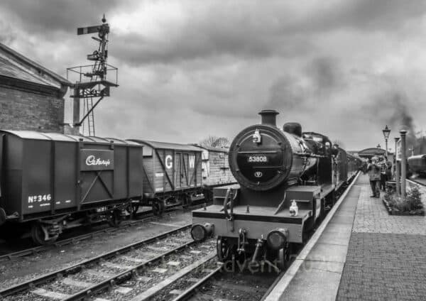 53808 arrives at Bewdley on the Severn Valley Railway