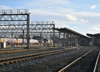 Photograph of Tyseley depot (the trains shown were not those involved in the accident)
