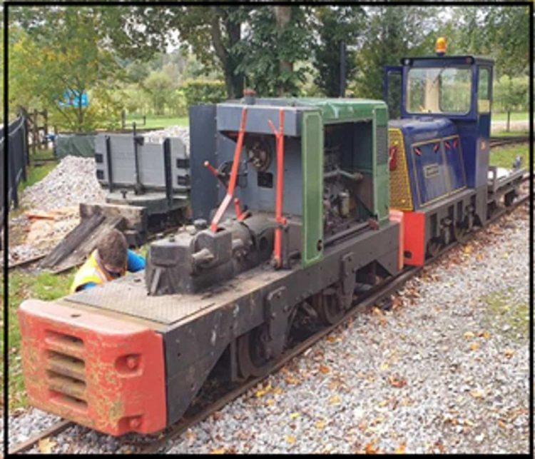 Ruston 48 DLG RH497760 at the Old Kiln Railway