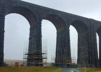 Ribblehead viaduct on Settle-Carlisle line