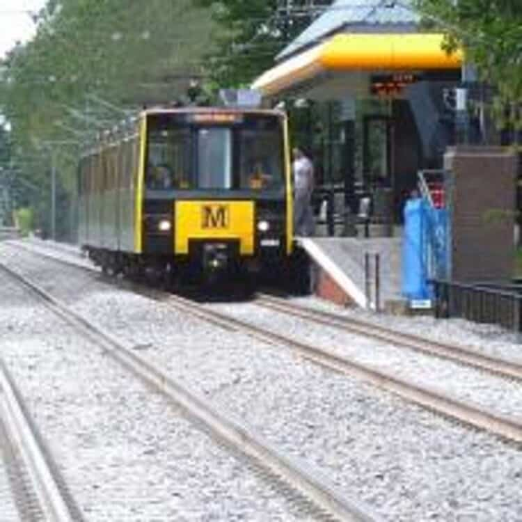 Tyne and Wear Metro train at Meadowell
