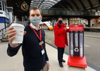 LNER paper cup recycling