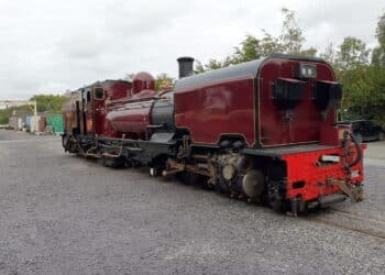 Garratt 130 at Dinas Locomotive Works