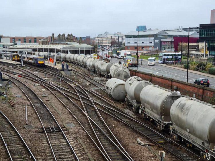 Derailment at Sheffield station