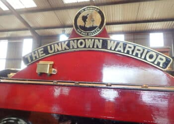 5551 The Unknown Warrior's nameplate