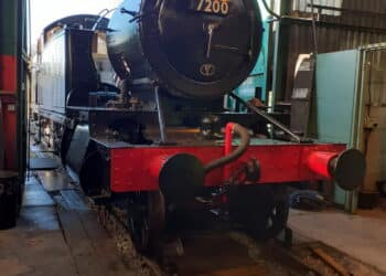 7200 with tanks, cab and smokebox fitted