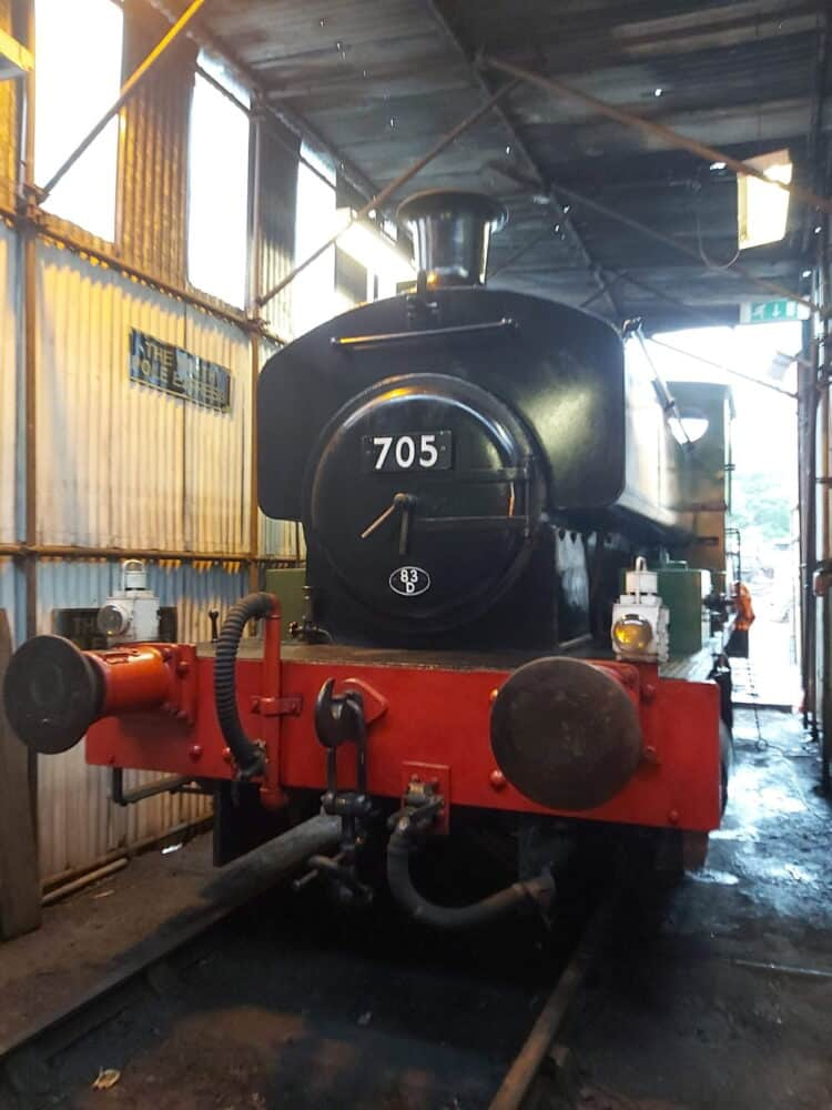 705 on the Plym Valley Railway