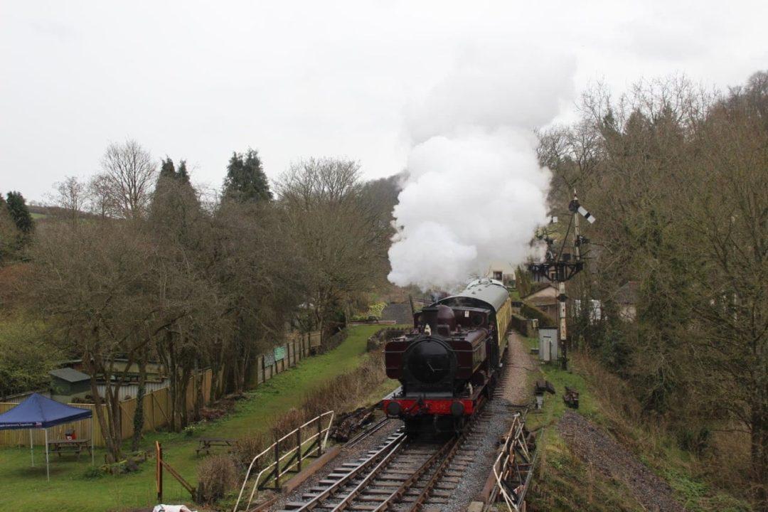 Locomotive L92 at Buckfastleigh on the South Devon Railway