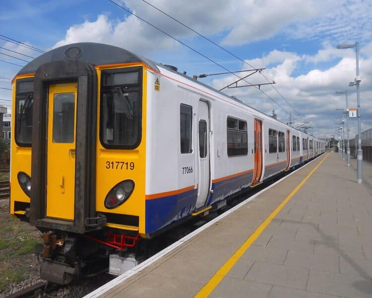 London Overground Class 317719 at Romford