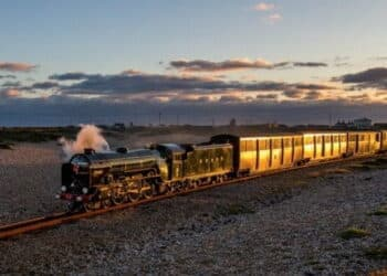 Steam train on the Romney Hythe and Dymchurch Railway