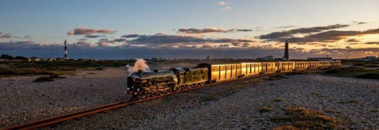 Steam train on the Romney Hythe and Dymchurch Railway