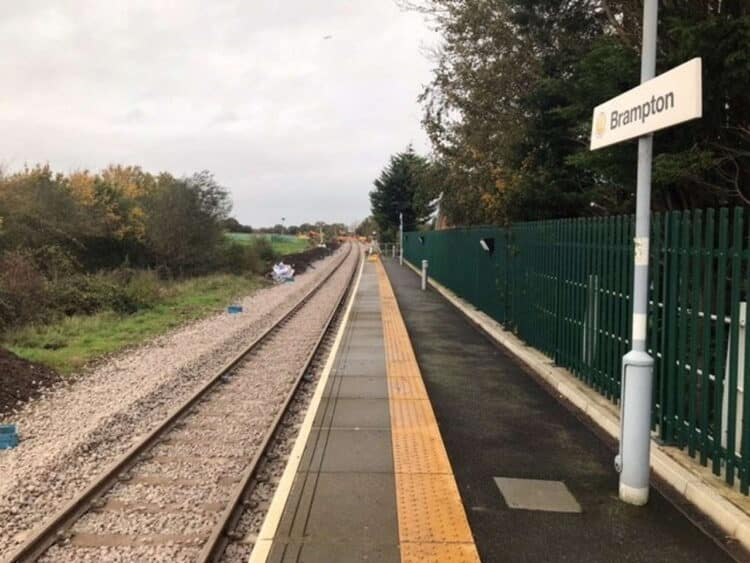 Brampton East Suffolk Line track 5