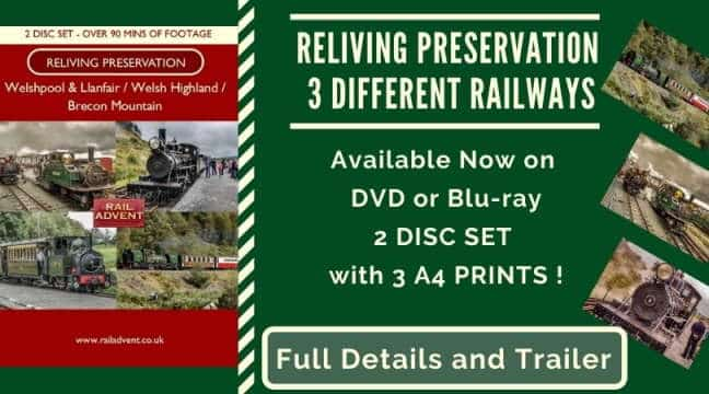 DVD Brecon Mountain Railway Welshpool Llanfair Railway Welsh Highland Railway