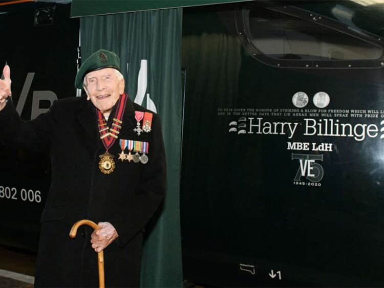 D-Day veteran Harry Billinge MBE will be providing a wreath which will be placed on board at St Austell.