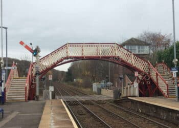 Grade II listed footbridge at Prudhoe station reopens after £500,000 refurbishment