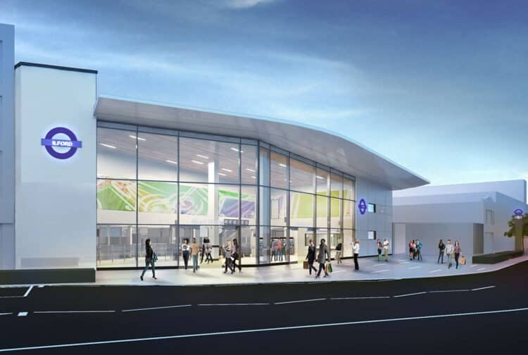 Ilford station CGI Crossrail