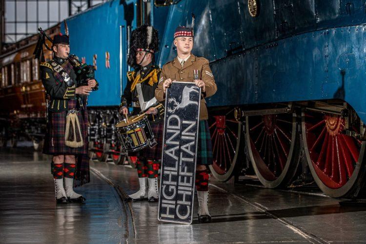 LNER HST nameplate Highland Chieftain