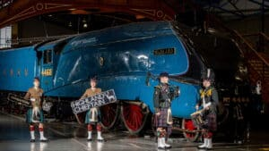 LNER HST nameplates Craigentinny and Crest plus Highland Chieftain