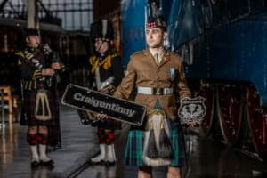 LNER HST nameplates Craigentinny plus Crest