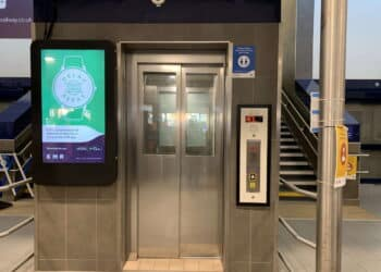 Lifts at main entrance of Derby railway station have been revamped