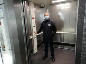 Luton Airport Parkway railway station lifts with Tom Moran, Managing Director for Thameslink