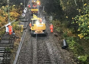 Work on the Aberdare line for the South Wales Metro