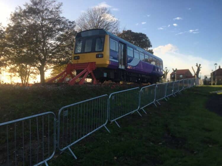 Network Rail teams help County Durham school with project to transform old train carriages into new library