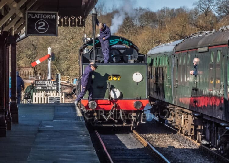 847 at Sheffield Park on the Bluebell Railway