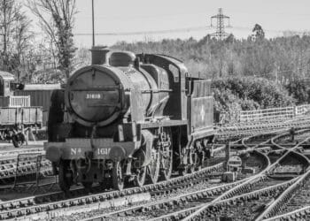 31618 at Sheffield Park on the Bluebell Railway