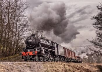 LMS Black 5 No. 44871 on the Keighley and Worth Valley Railway