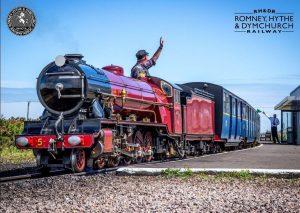 Romney Hythe and Dymchurch Railway steam train