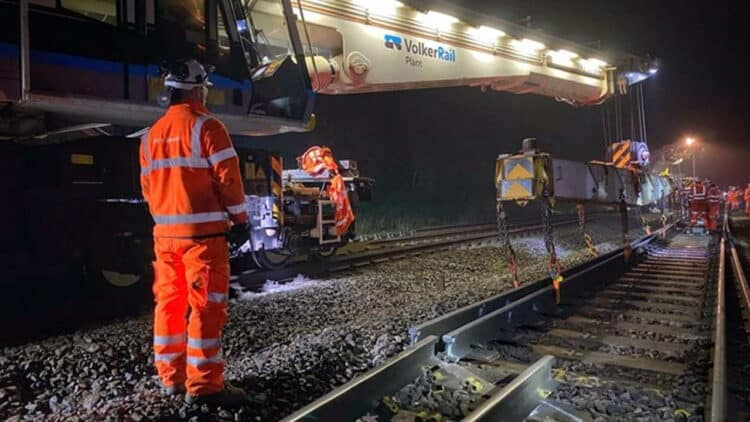 Repairs taking place at Aynho Junction